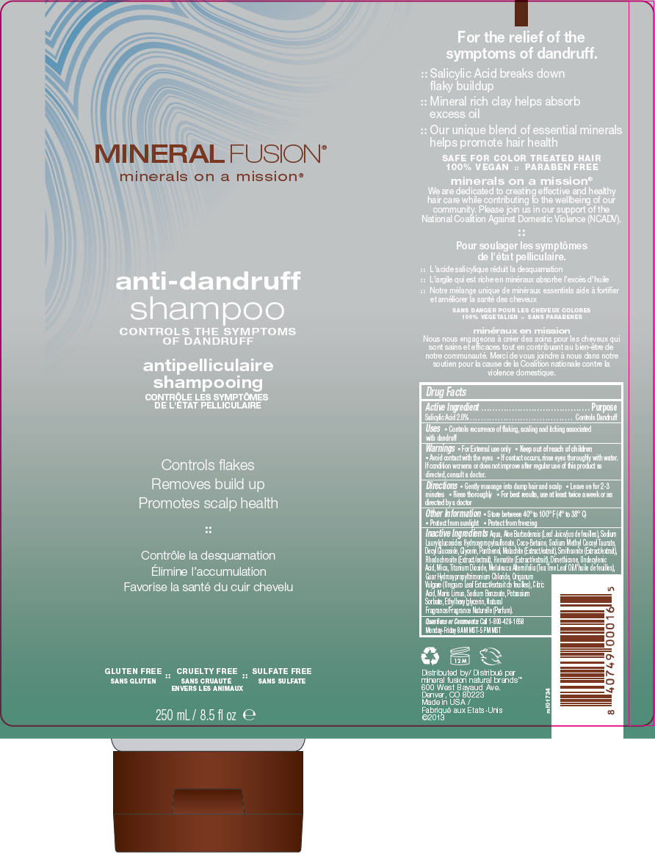 Anti-dandruff (Salicylic Acid) Shampoo [Mineral Fusion Natural Brands]