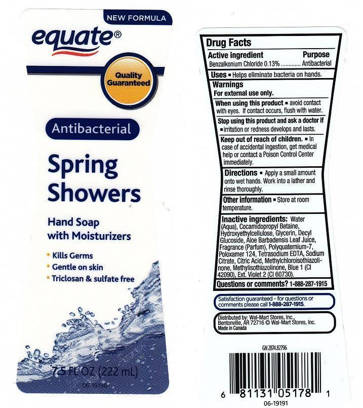 Equate Spring Showers (Benzalkonium Chloride) Liquid [Wal-mart Stores Inc]