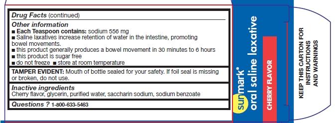 Oral Saline Laxative Cherry (Dibasic Sodium Phosphate, Monobasic Sodium Phosphate) Liquid [Mckesson Corporation]