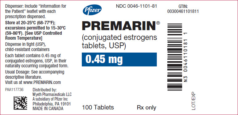 Premarin (Estrogens, Conjugated) Tablet, Film Coated [Wyeth Pharmaceuticals Inc., A Subsidiary Of Pfizer Inc.]