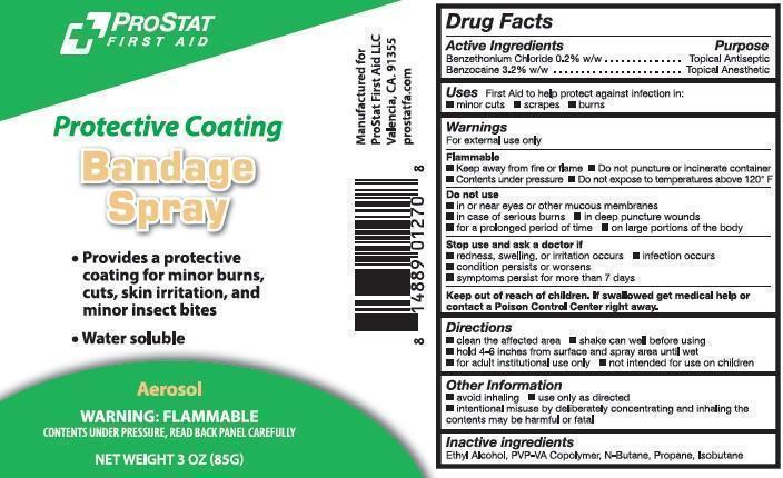 Prostat Protective Coating Bandage First Aid (Benzethonium Chloride And Benzocaine) Aerosol, Spray [Prostat First Aid]