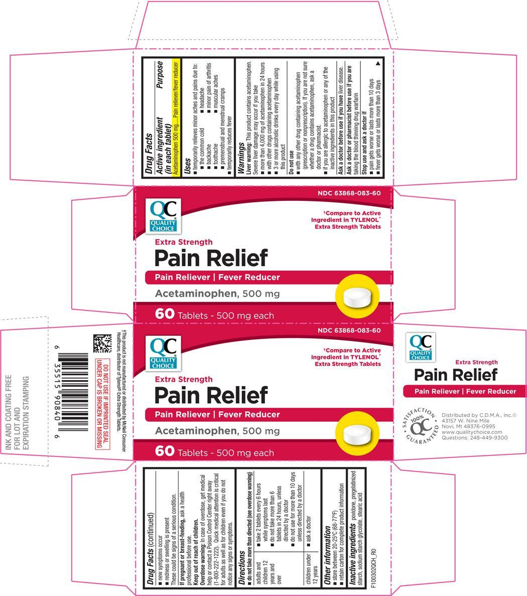 Pain Relief Extra Strength (Acetaminophen) Tablet [Chain Drug Marketing Association]