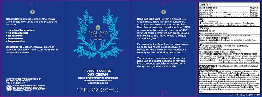 H-e-b Dead Sea Organics Protect And Perfect Day Broad Spectrum Spf15 (Avobenzone, Homosalate, Octisalate, Octocrylene) Cream [Emilia Personal Care Inc.]