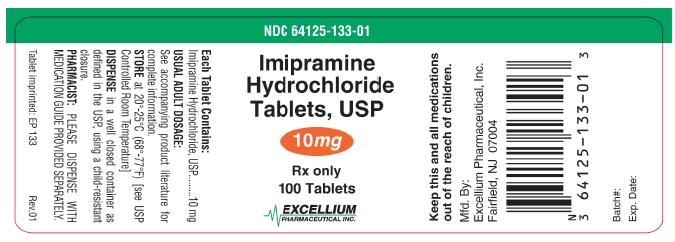 Imipramine Hydrochloride Tablet, Film Coated [Excellium Pharmaceutical, Inc]