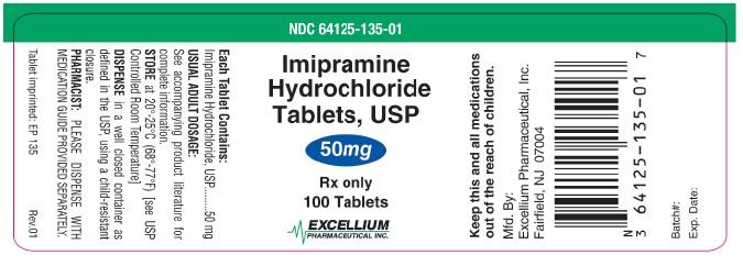 Imipramine 50mg 100tab Label
