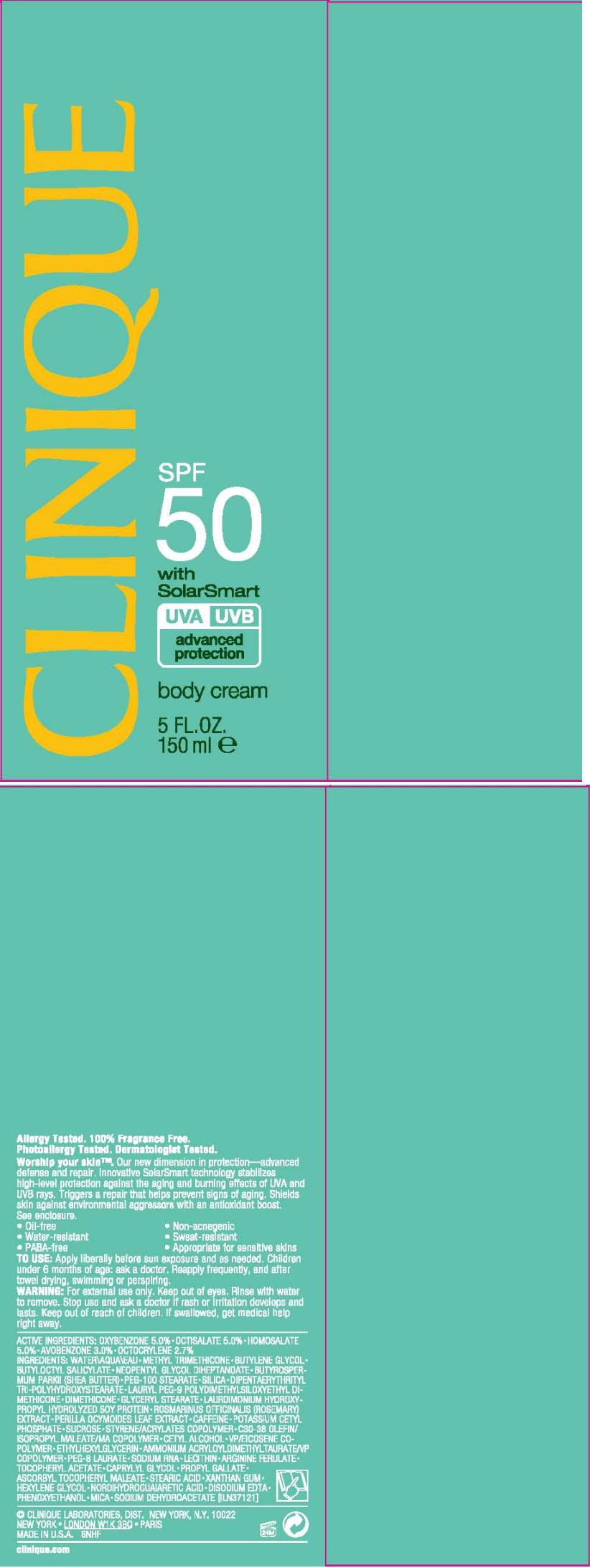 Clinique (Oxybenzone, Octisalate, Homosalate, Avobenzone, And Octocrylene) Cream [Clinique Laboratories Inc.]