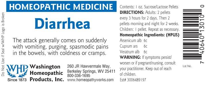 Diarrhea (Arsenic Trioxide – Cupric Arsenite – Veratrum Album Root) Pellet [Washington Homeopathic Products]