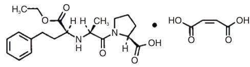 Enalapril Structure Label