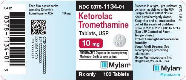 Ketorolac Tromethamine Tablet, Film Coated [Mylan Pharmaceuticals Inc.]