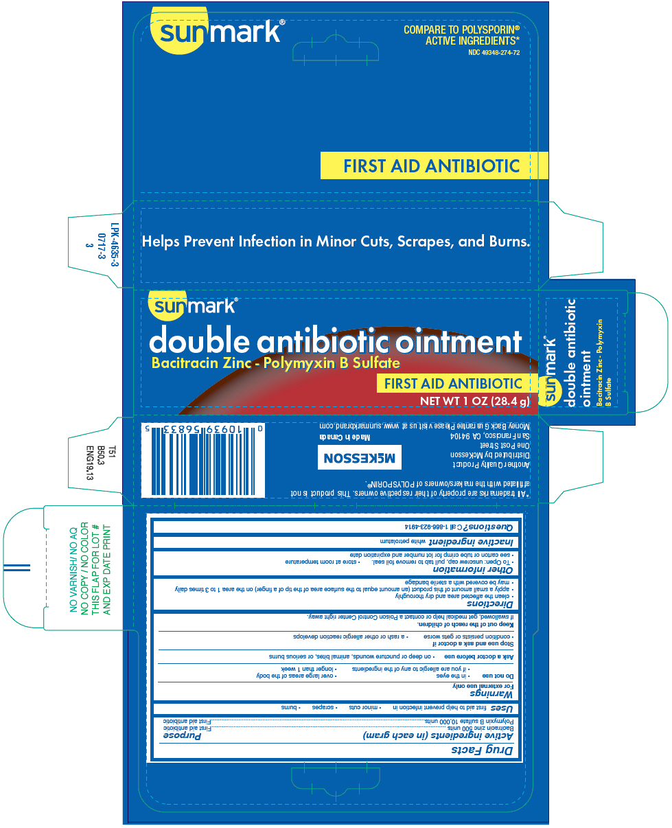 Sunmark Double Antibiotic (Bacitracin Zinc And Polymyxin B Sulfate) Ointment [Mckesson]