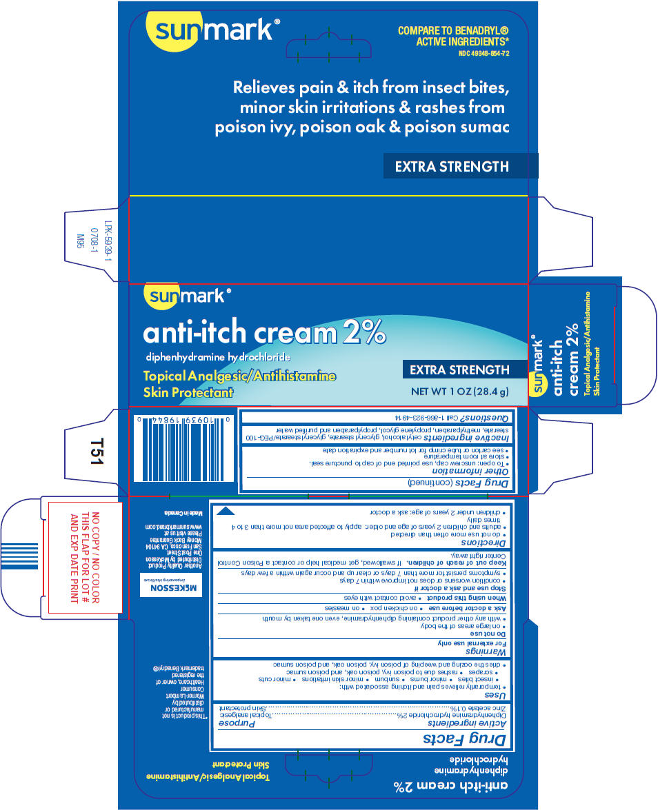 Sunmark Anti-itch (Diphenhydramine Hydrochloride And Zinc Acetate) Cream [Mckesson]