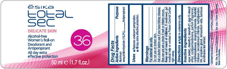 Esika Total Sec Delicate Skin (Aluminum Sesquichlorohydrate) Liquid [Ventura Corporation, Ltd.]