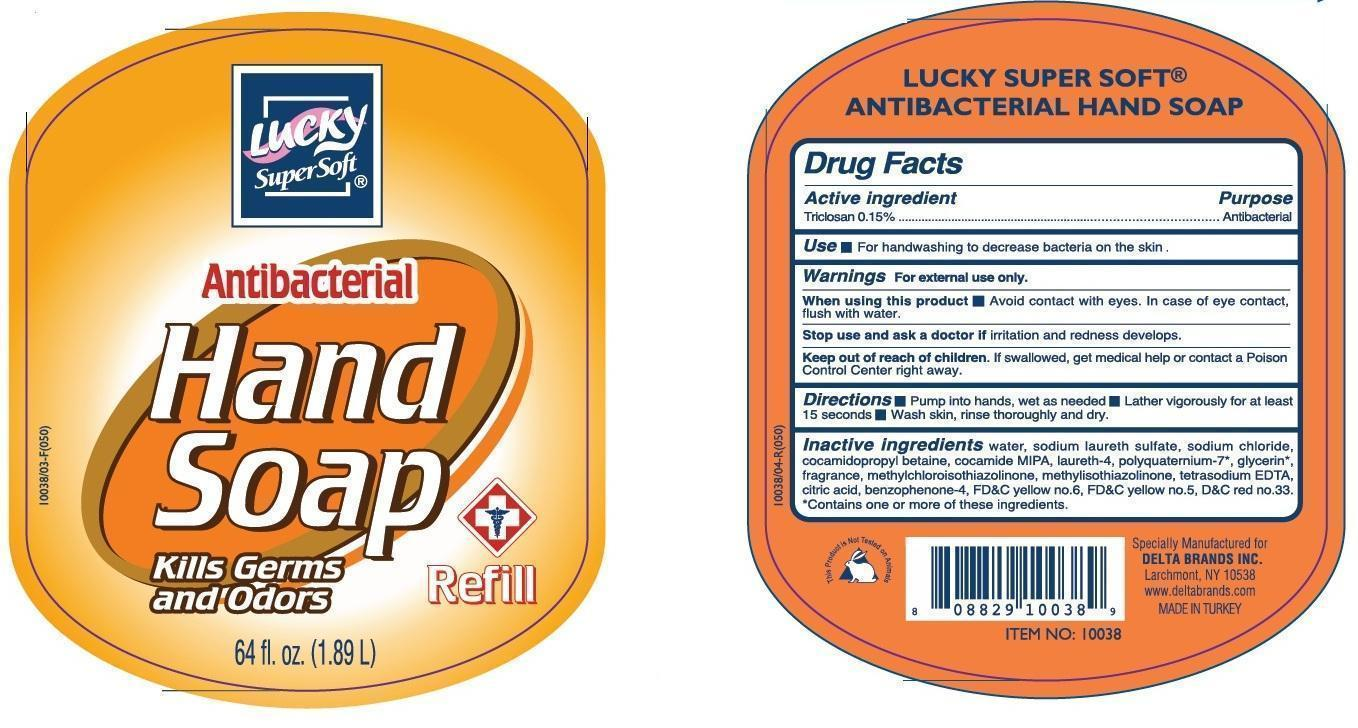 Lucky Supersoft Antibacterial Hand (Triclosan) Soap [Delta Brands Inc]
