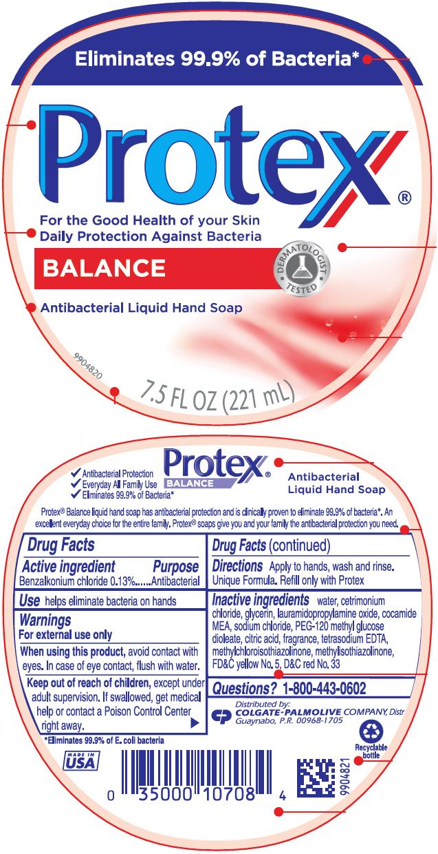 Protex Balance Antibacterial Hand (Benzalkonium Chloride) Liquid [Colgate-palmolive Company]