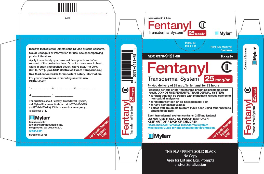 Fentanyl Transdermal System 25 mcg/hr Carton Label