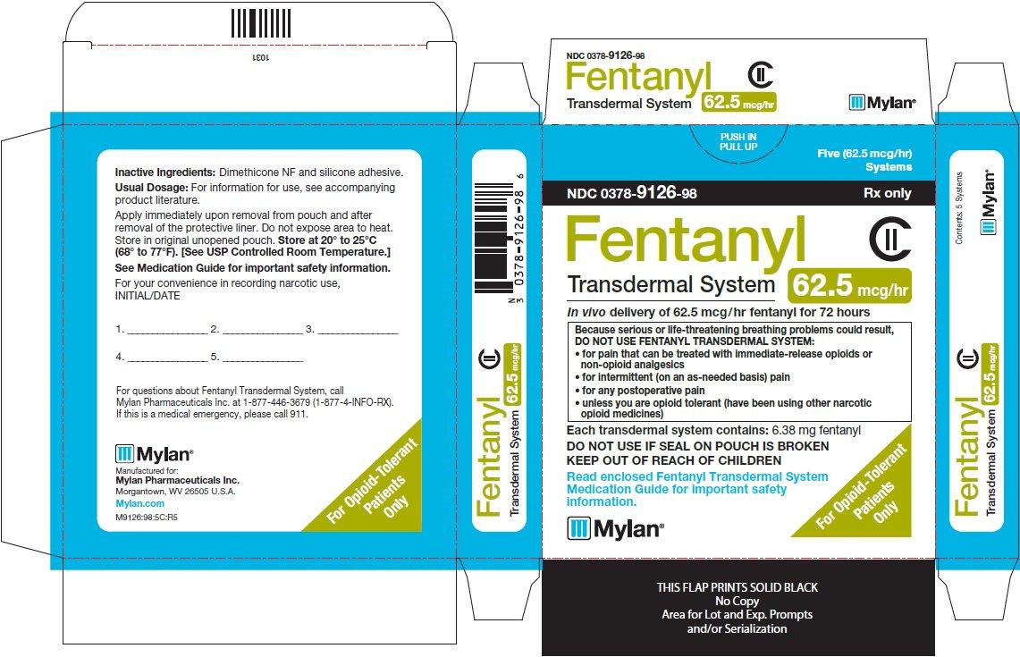 Fentanyl Transdermal System 62.5 mcg/hr Carton Label