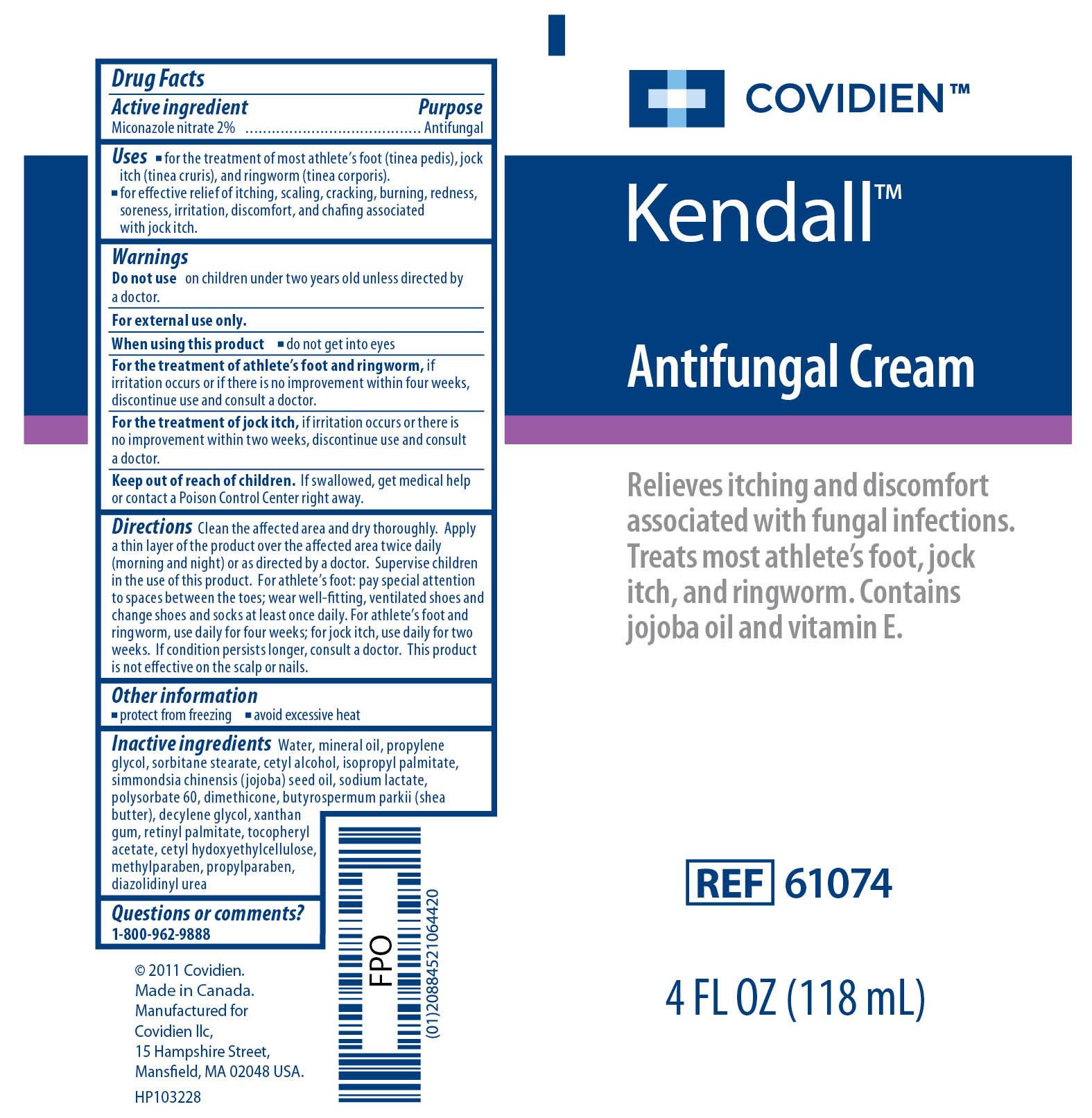 Image of Antifungal Cream 4 oz Label