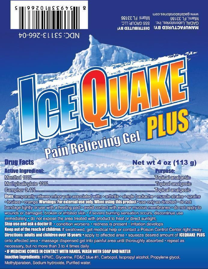 Ice Quake Plus (Methyl Salicylate, Menthol, Camphor) Gel [Gadal Laboratories Inc]