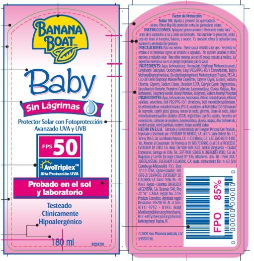PRINCIPAL DISPLAY PANEL Banana Boat Baby Sin Lagrimas SPF 50 Pump Spray