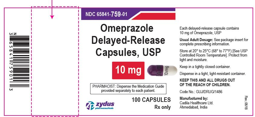 Omeprazole DR Capsules, 10 mg