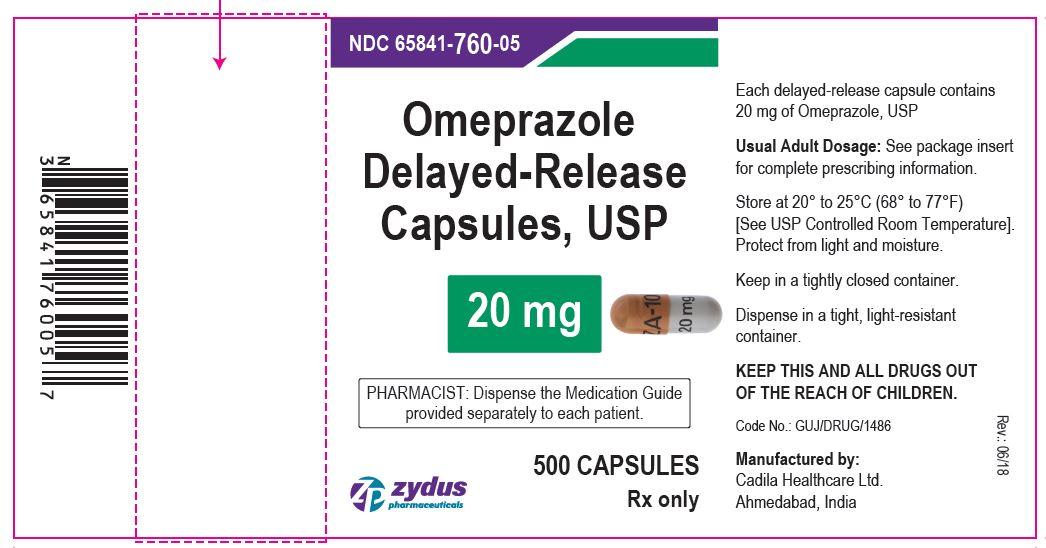 Omeprazole DR Capsules, 20 mg