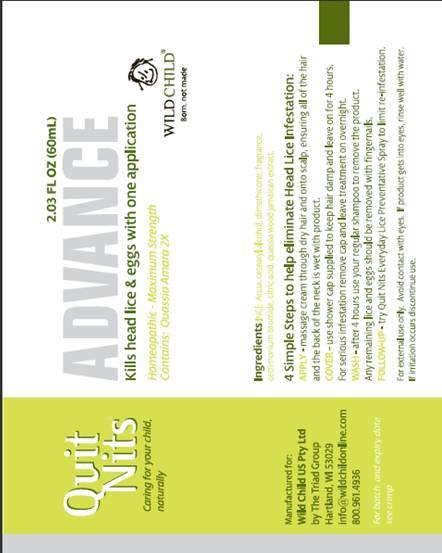 Quit Nits Advance (Quassia Amara) Cream [Wild Child W A Pty Ltd]