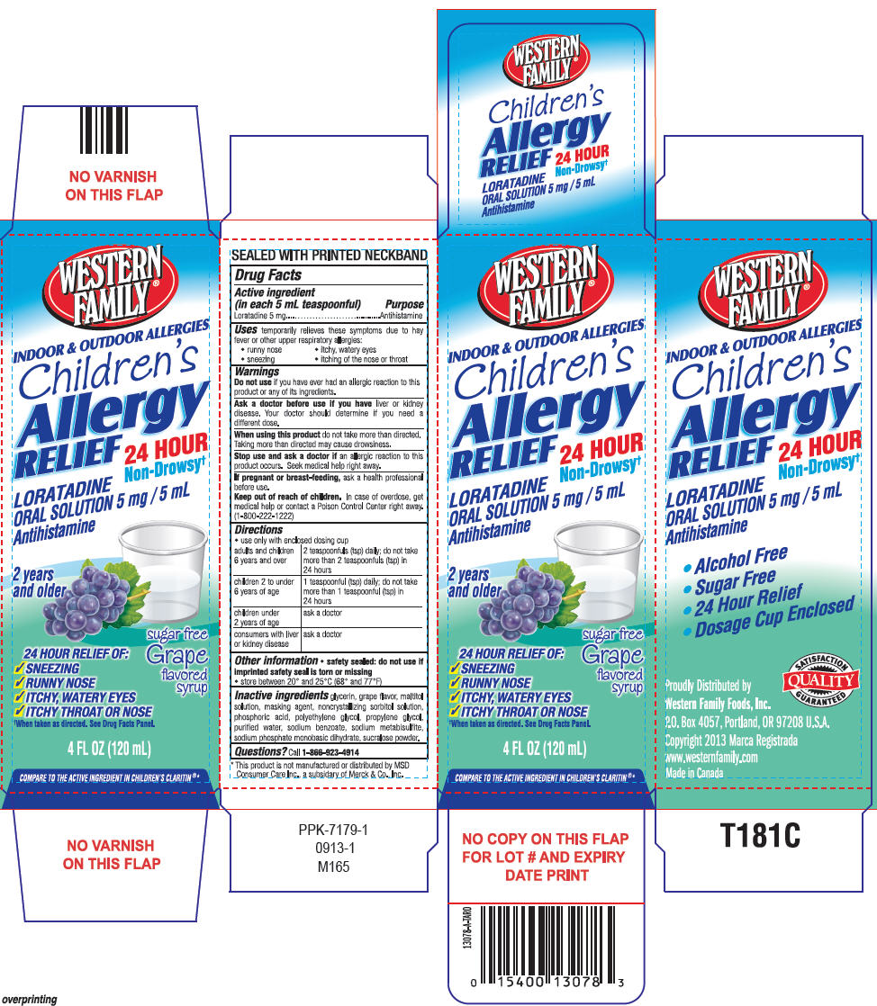 Western Family Childrens Allergy Relief (Loratadine) Solution [Western Family Foods Inc]