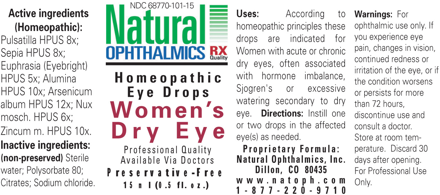 Womens Dry Eye (Pulsatilla, Sepia, Euphrasia, Alumina, Arsenicum Album, Nux Mosch, Zincum M) Liquid [Natural Ophthalmics, Inc]
