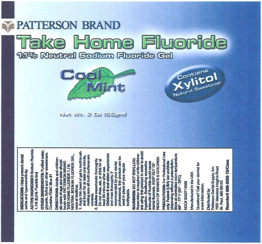 Take Home Fluoride Cool Mint (Sodium Fluoride) Gel, Dentifrice [Patterson Dental Supply Inc]