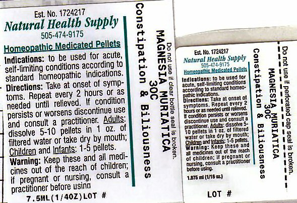 Constipation Billousness (Magnesium Cation) Pellet [Natural Health Supply]