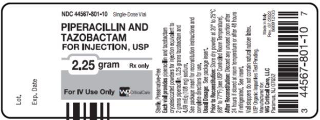 Piperacillin And Tazobactam (Piperacillin Sodium,tazobactam Sodium) Injection, Powder, For Solution [Wg Critical Care, Llc]