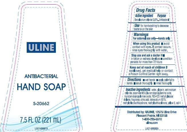 Hand Wash (Benzalkonium Chloride) Liquid [Uline]