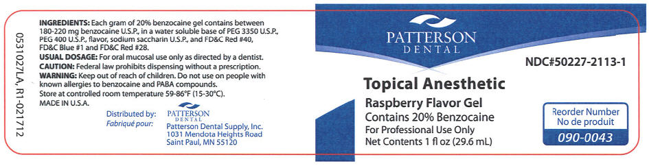 Topical Anesthetic Raspberry (Benzocaine) Gel [Patterson Dental Supply Inc]