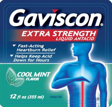 Gaviscon Extra Strength 12 fl oz label