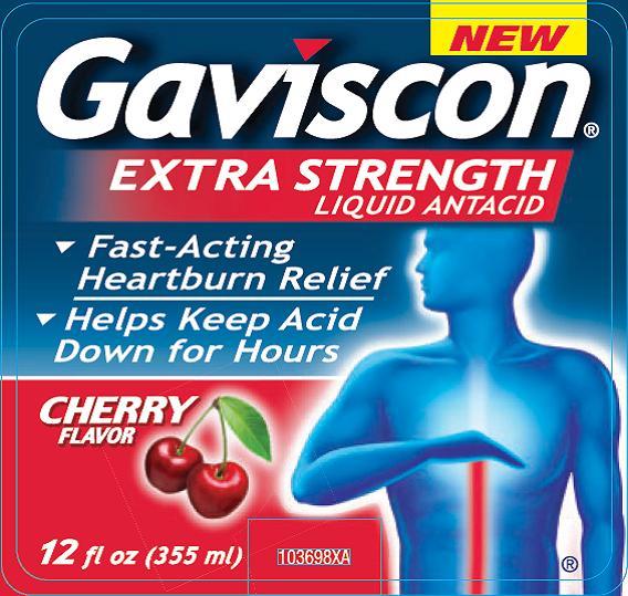 Gavison Extra Strength Cherry 12 fl oz (355mL) label
