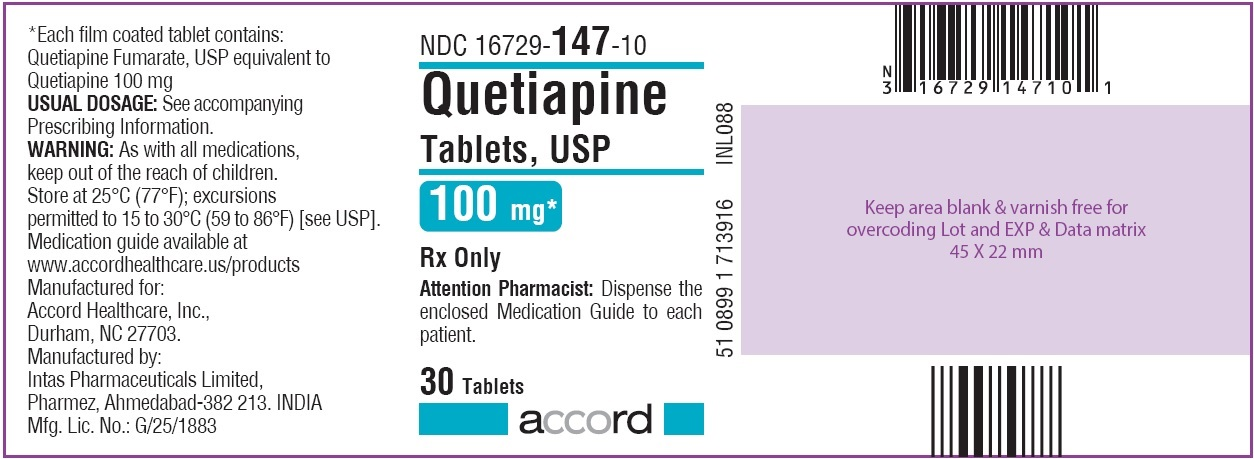 Quetiapine Tablets 100 mg