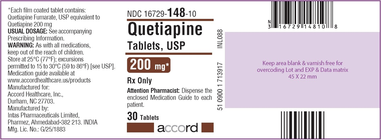 Quetiapine Tablets 200 mg