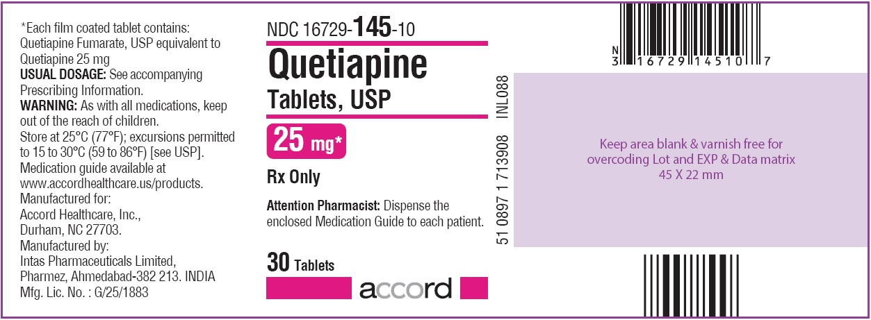 Quetiapine Tablets 25 mg