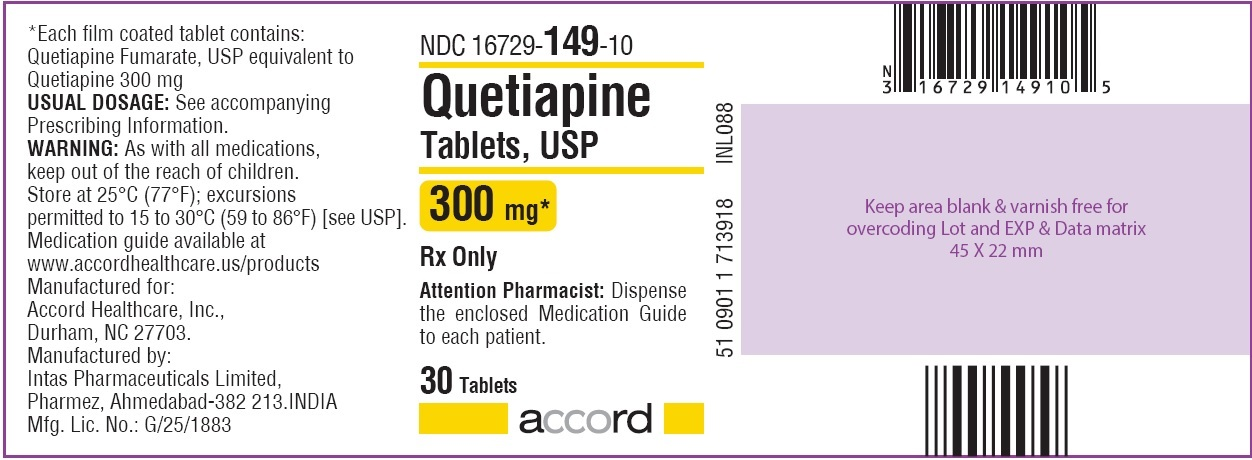 Quetiapine Tablets 300 mg