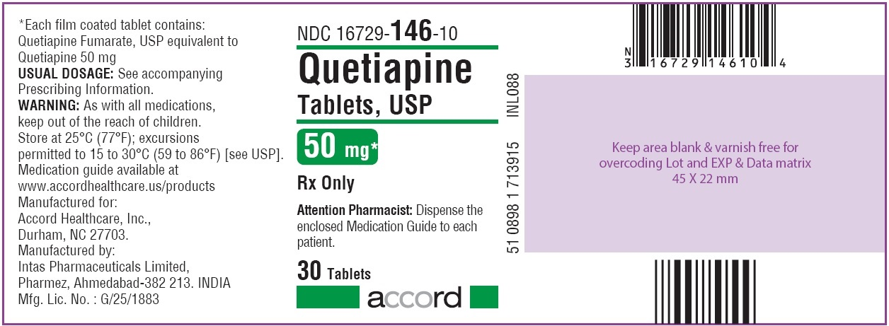 Quetiapine Tablets 50 mg