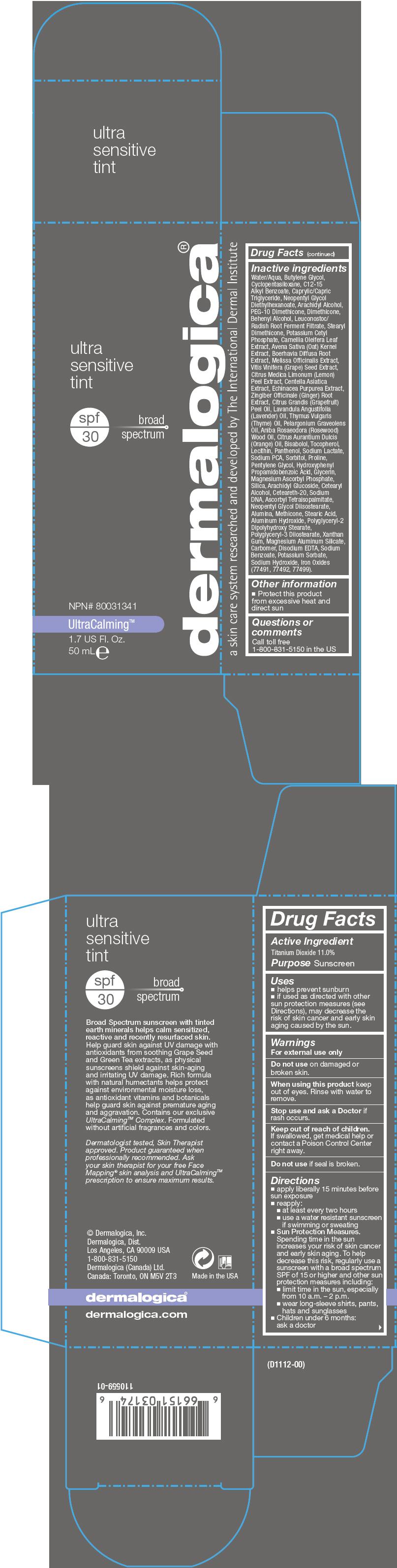Ultrasensitive Tint Spf 30 (Titanium Dioxide) Lotion [Dermalogica, Inc.]