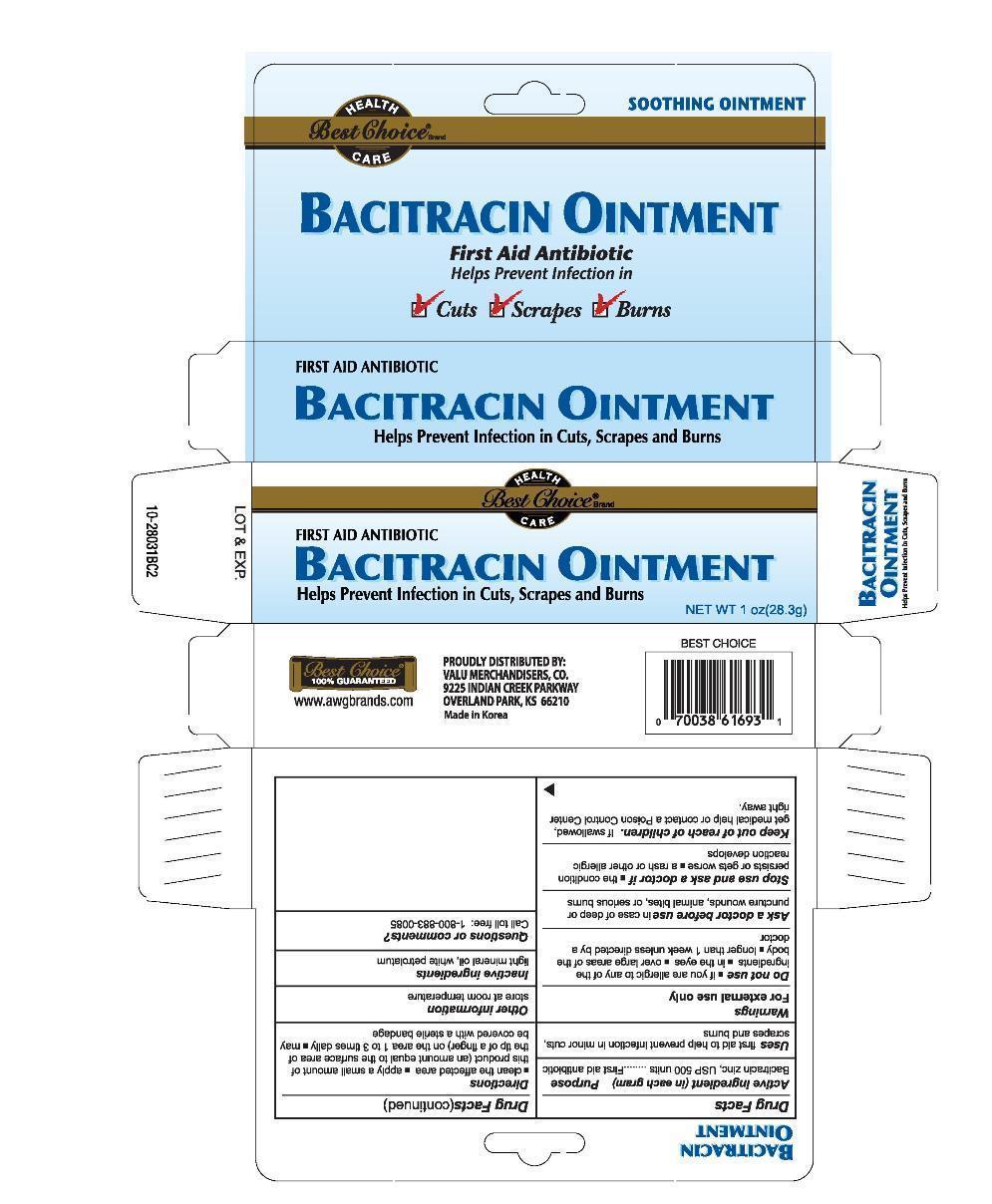 Best Choice Bacitracin Zinc (Bacitracin Zinc) Ointment [Valu Merchandisers, Co.]