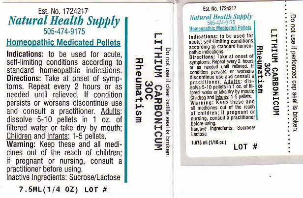 Rheumatsm (Lithium Carbonate) Pellet [Natural Health Supply]