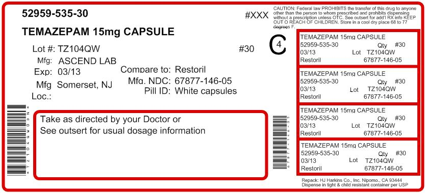 Bottle Label - 15 mg - 100 count