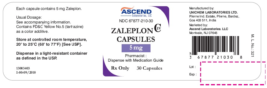 Zaleplon Capsules 5 mg - Container Label