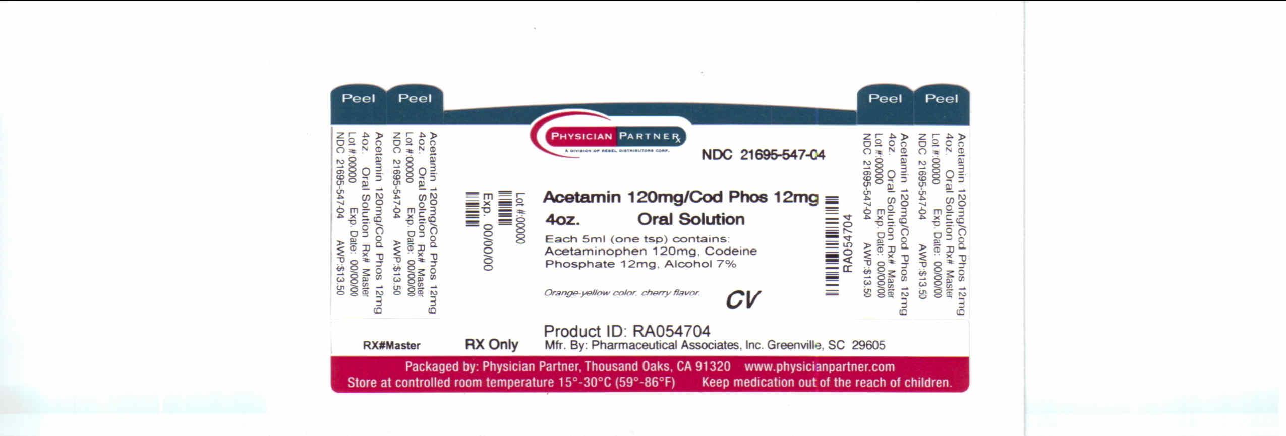 Acet 120mg/Cod Phos 12mg Label