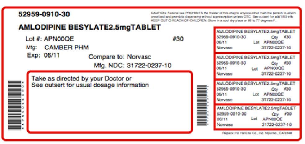 Hypertenipine (Amlodipine Besylate, Arginine) Kit [Physician Therapeutics Llc]