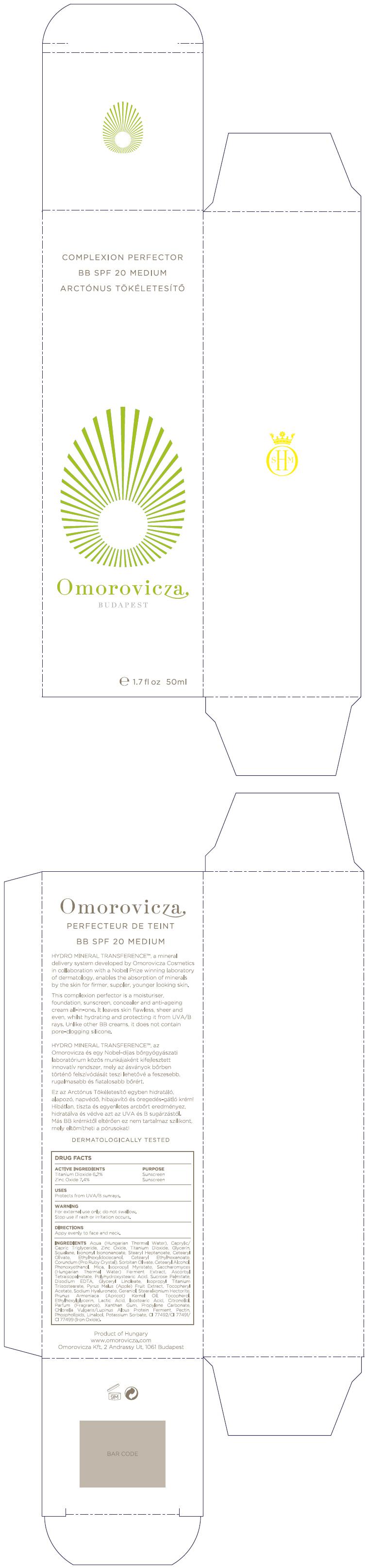 Complexion Perfector Bb Spf20 Medium (Titanium Dioxide And Zinc Oxide) Cream [Omorovicza Kozmetikai Kft.]