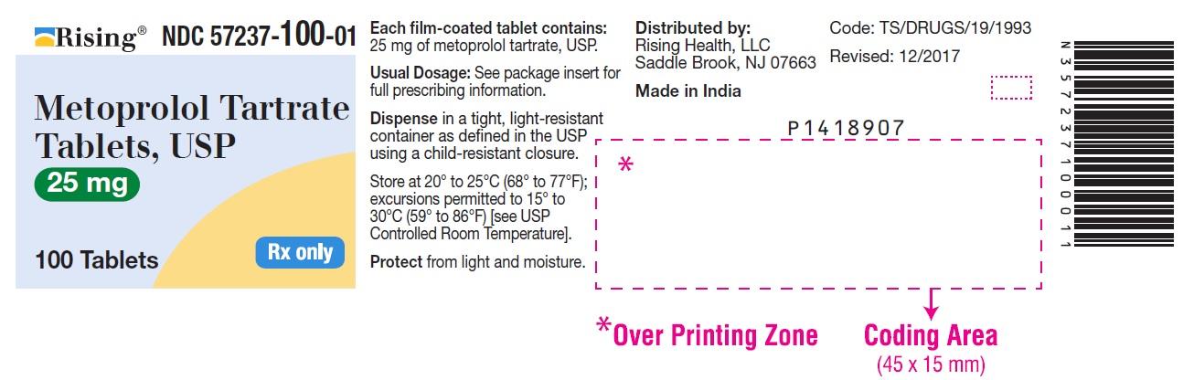Metoprolol Tartrate Tablet, Film Coated [Citron Pharma Llc]