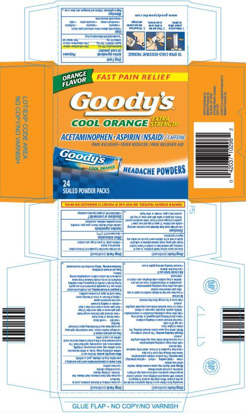 Goodys Cool Orange Headache (Acetaminophen And Aspirin And Caffeine) Powder [Medtech Products Inc.]